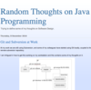 Random Thoughts on Java Programming