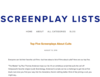 Screenplay Lists | Screenplay Blog