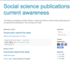 Social science publications current awareness