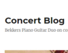 Concert Blog Bekkers Piano Guitar Duo on concert economics, creative entrepreneurship, and culture